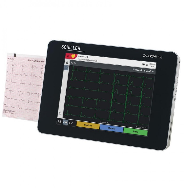 Electrocardiografo 12 Canales Schiller Cardiovit FT-1.